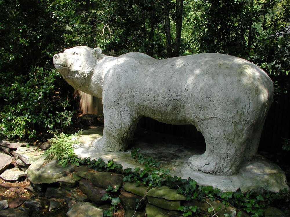 Outdoor Polar Bear Marble Replica