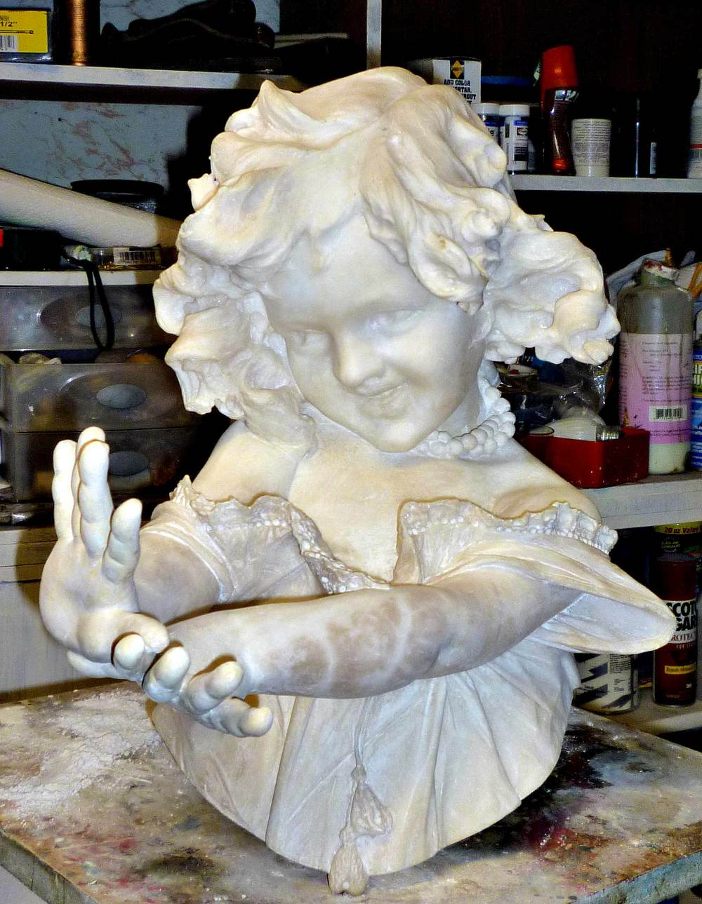 Marble Statue repaired and restored