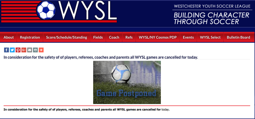 WYSL ANNOUNCEMENT