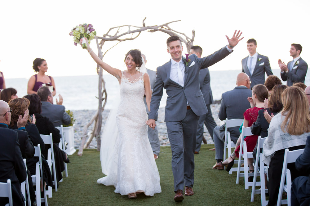 Beachstone terrace ceremony at oceanview of nahant