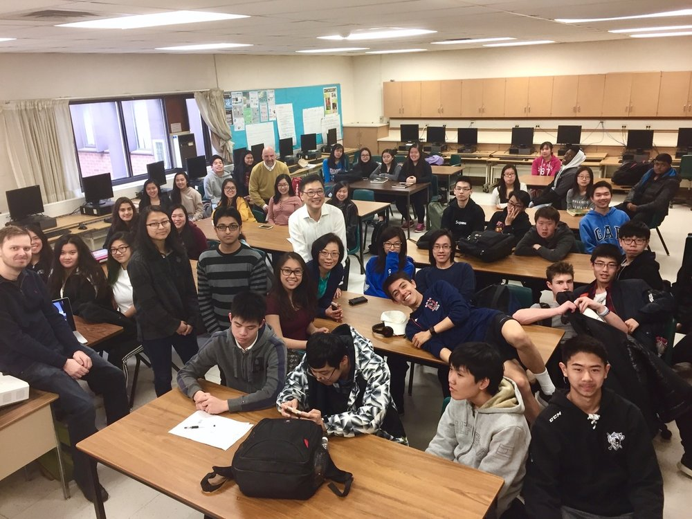 Norman Bethune Collegiate Marketing Class