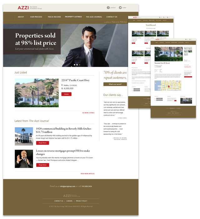 Web Design  / All page templates designed and programmed for the Wordpress environment.