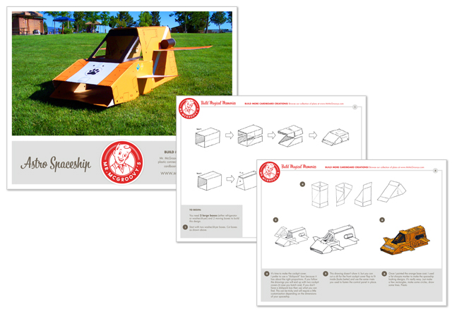 Instruction Manuals / Mr. McGroovy's offers dozens of plans that provide step-by-step instructions on how to assemble your own cardboard creation.