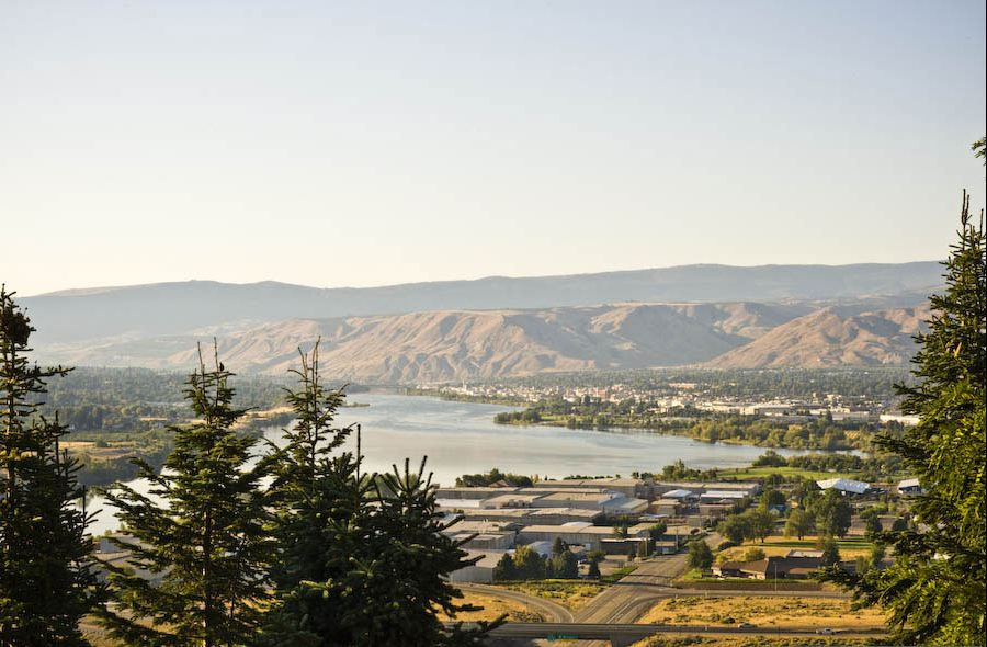The view from just above Weinstein Beverage, Eastern Cascade Distributing, and Weinstein Wholesale Solution's main Wenatchee warehouse.