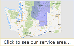 North Central Washington Pepsi, beverage, vending, coffee, water and wholesale supply distribution map.