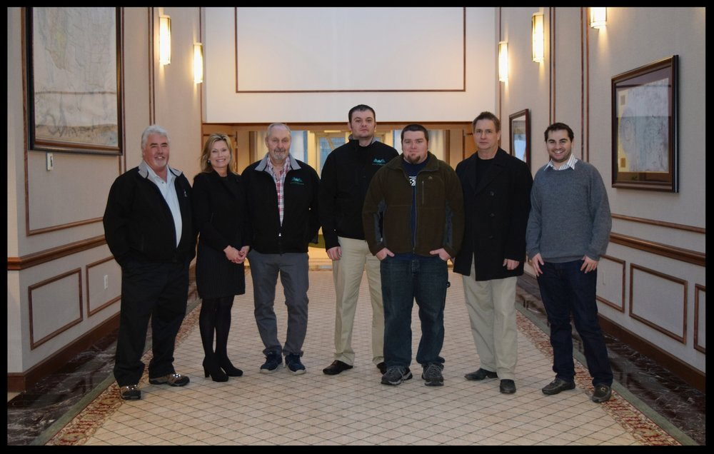 Weinstein Wholesale Solutions team members pictured (Left to Right): Steve Hitzroth (Wholesale Manager), Sandy Riggs (of Spartan Chemical), Dave Bonwell (Wholesale Director), Dustin Pfitzer (Wholesale Representative), Devin Lemons (Service Tech), Bob Hougham (Service Tech), Andy Weinstein (Wholesale General Manager)