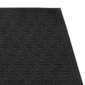 The Eco Dirt Stopper Scraper Mat in Black