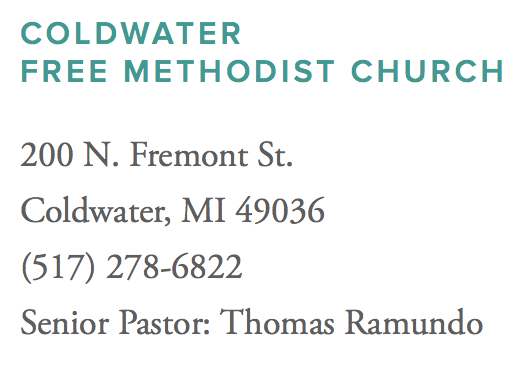 Coldwater Free Methodist Church