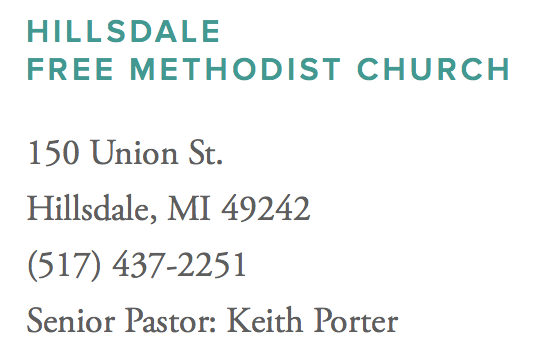 Hillsdale Free Methodist Church