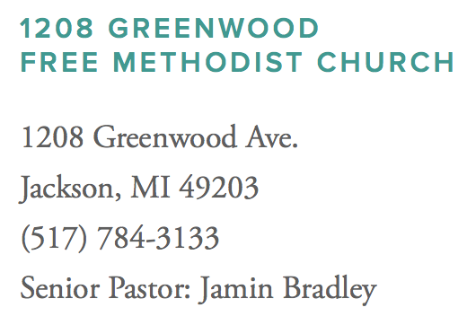 1208 Greenwood Free Methodist Church