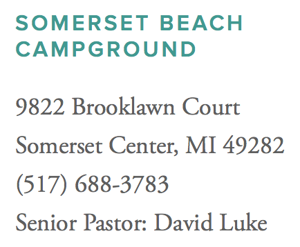 Somerset Beach Campground