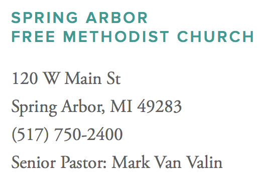 Spring Arbor Free Methodist Church