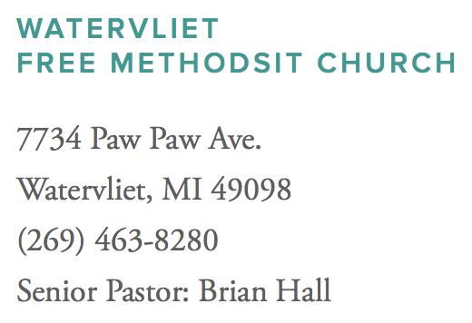 Watervliet Free Methodist Church