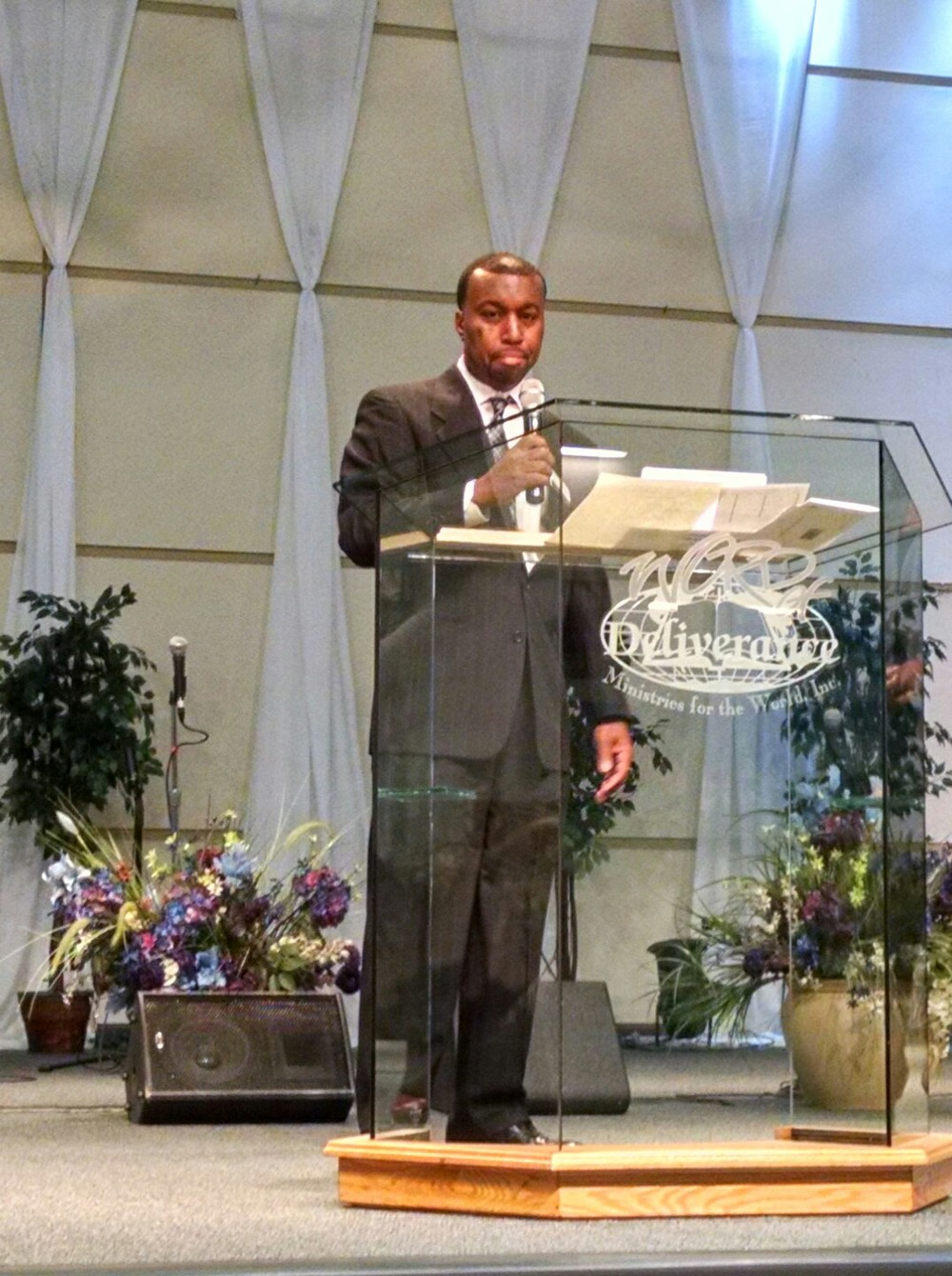 Speaking at Word of Deliverance Business Expo.
