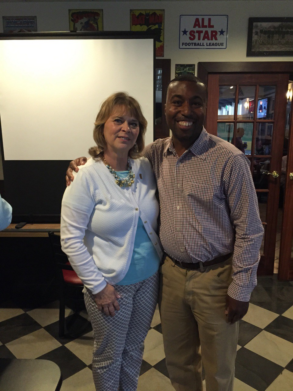 With my Business Trainer at Bullpen Restaurant in Indianapolis, IN.