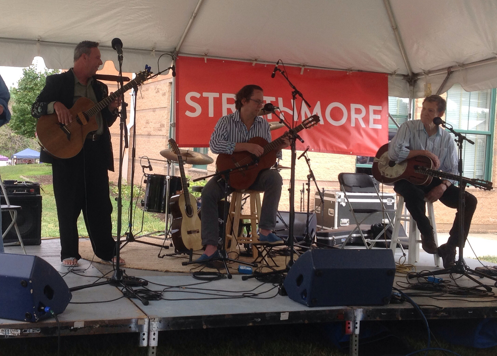 Takoma Park Folk Festival 2015—with Tom Dews (r) and Damian Keavney (l)