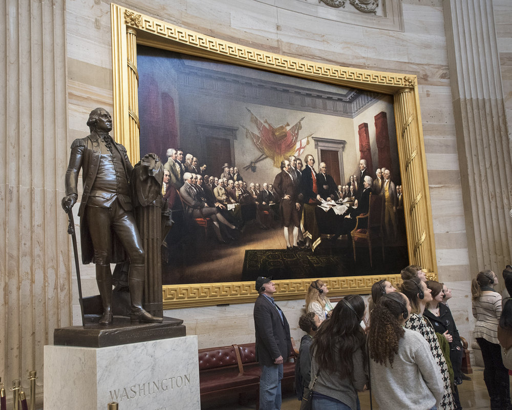 'Declaration of Independence', United States Capitol rotunda