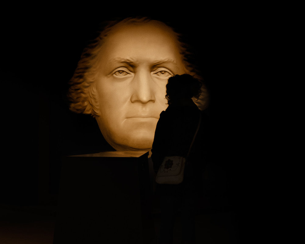 George Washington's face mask hologram, Mount Vernon's Education Center