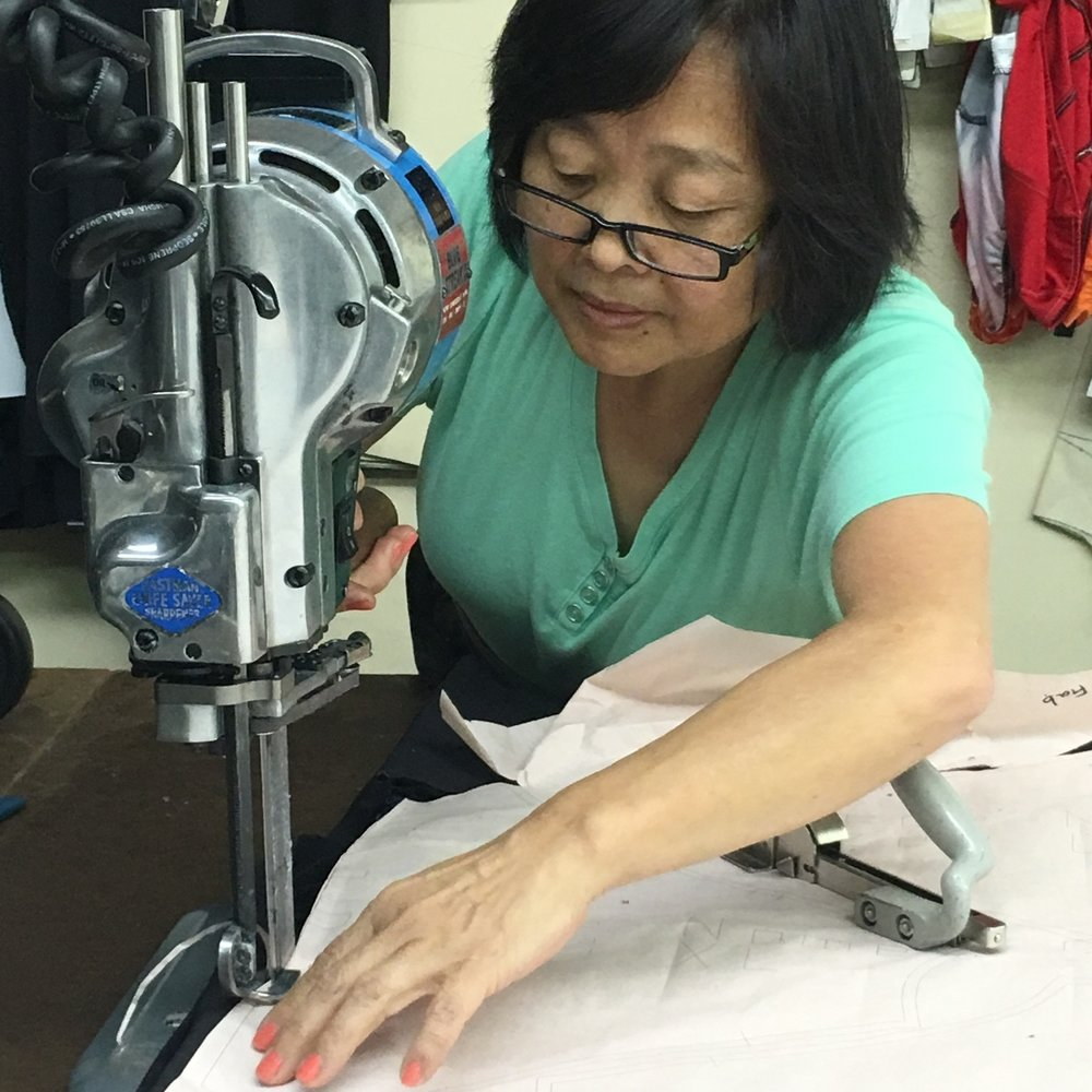 SassyCyclist Fabric Cutting at Factory