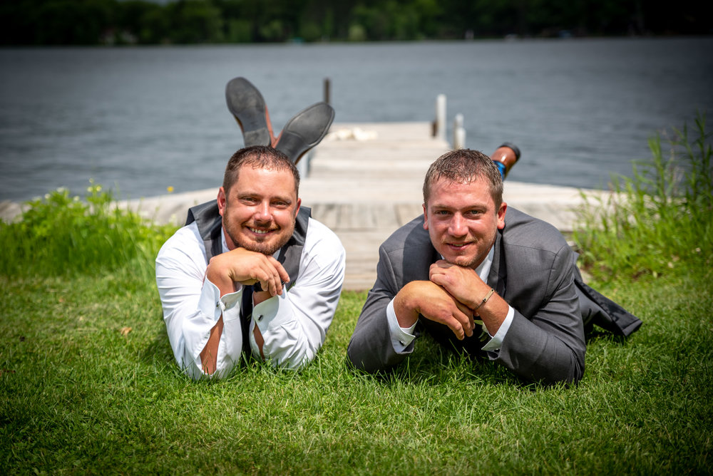 """The gymnastic year book pose"" - Groomsmen"