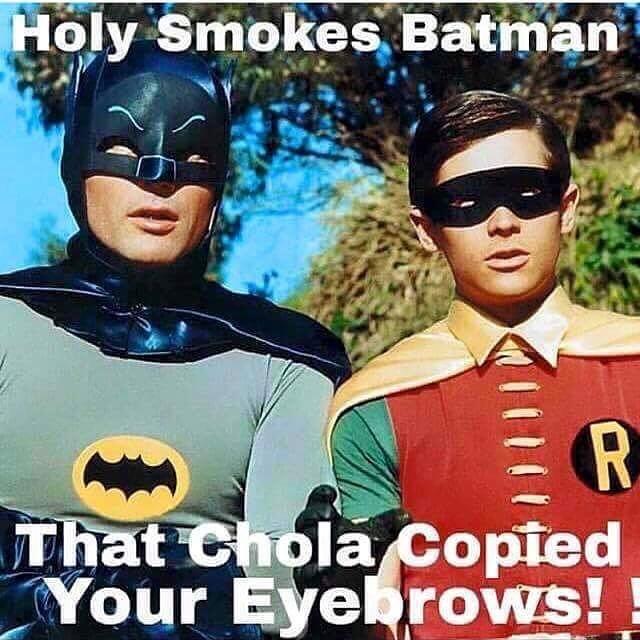The CholaBatBrows 😂😂😂😂😂😂 #lhk #chola #mexicanproblems #eyebrows #brows #browsonfleek