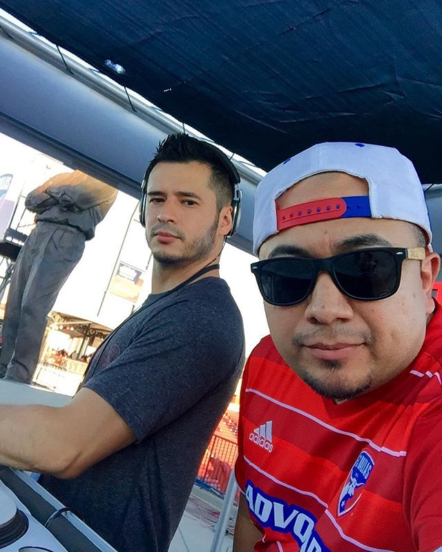 At our second home Toyota Stadium rocking the pre game. @fcdallas vs Colorado ⚽️⚽️⚽️ #LHK #officialfcdallasdjs #majorleaguesoccer #dtid #djlife #soccer #futbol