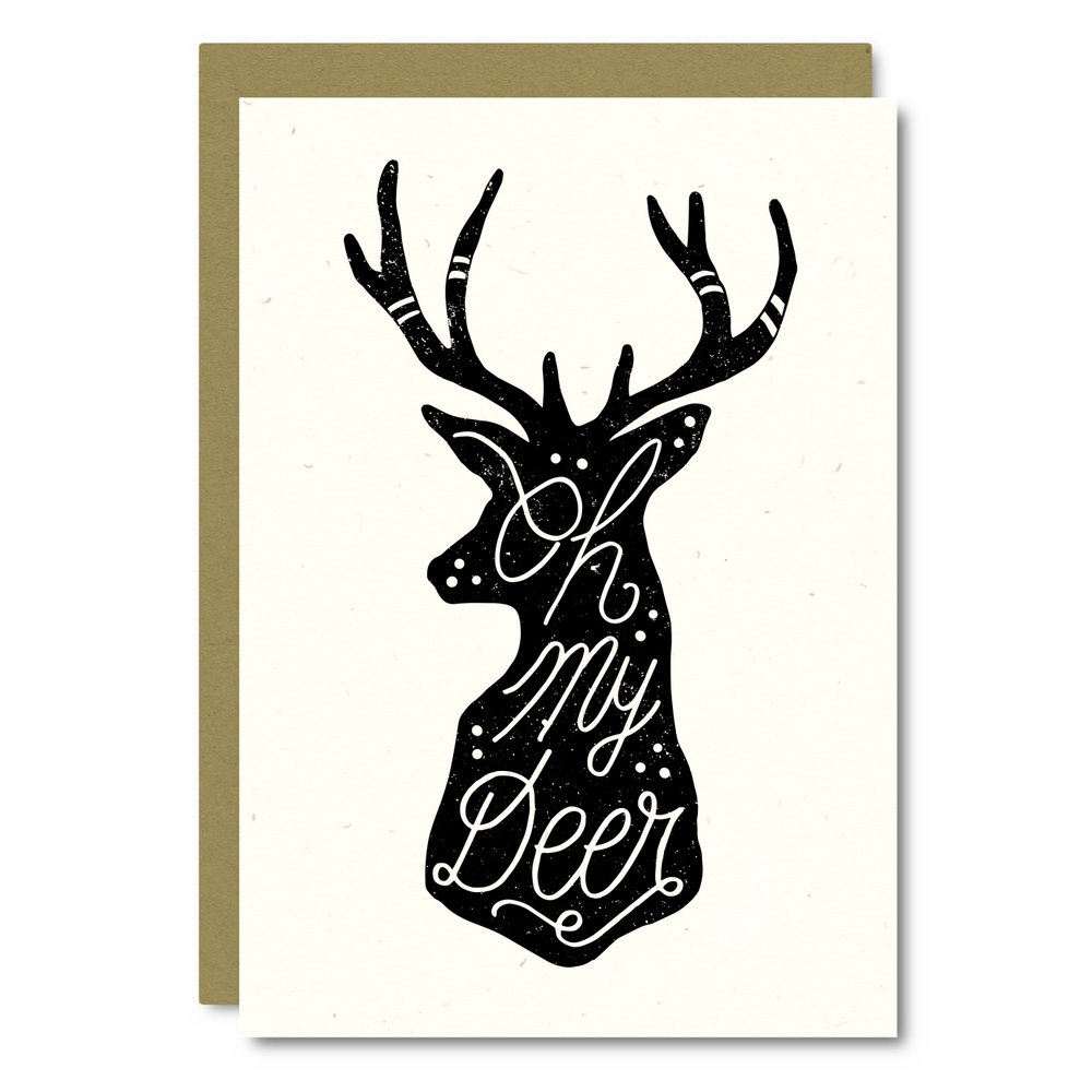 Oh My Deer Card - AS01 8x10 Print - AP01