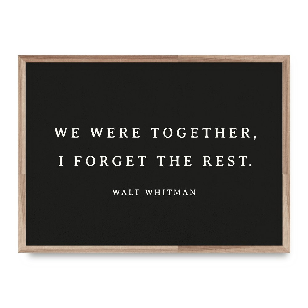 Whitman Forget Card - WL15 8x10 Print - WP16 12x16 Print - EW23