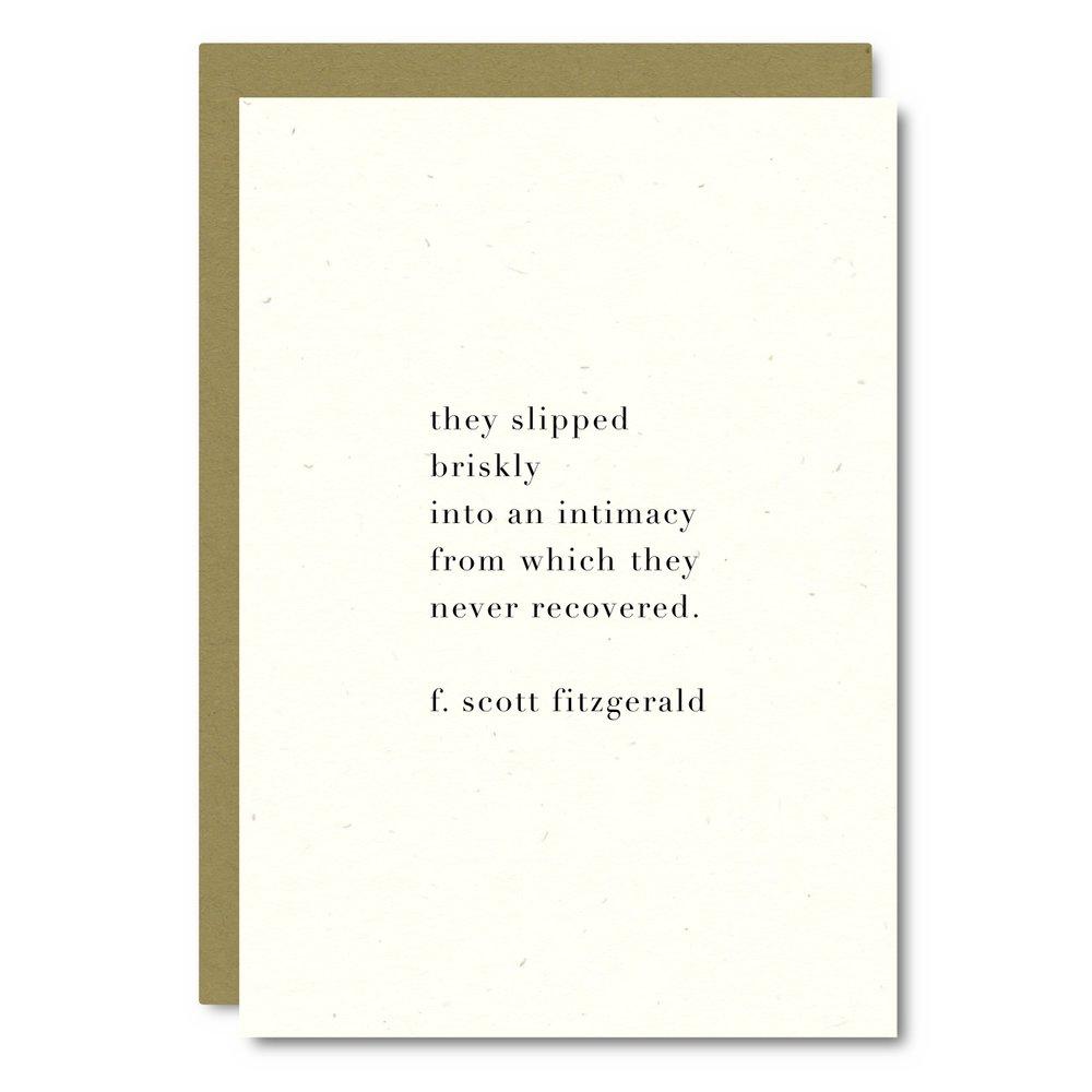 Fitzgerald Quote    Card - WL04    8x10 Print - WP05