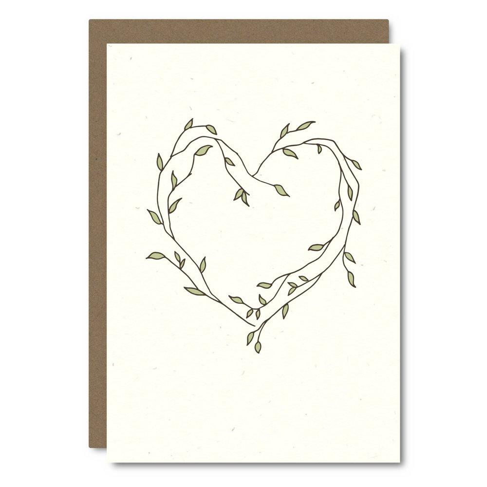 Heart Vines    Card - L  R04