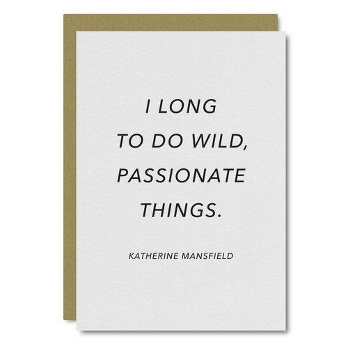 Mansfield (Wild) Quote    Card - WL52