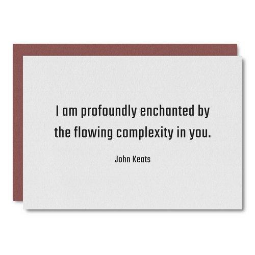 Keats Quote    Card - WL51