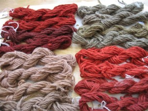 Dyeing With Wood Shavings. By Jenny Dean - http://www.jennydean.co.uk/dyeing-with-wood-shavings/