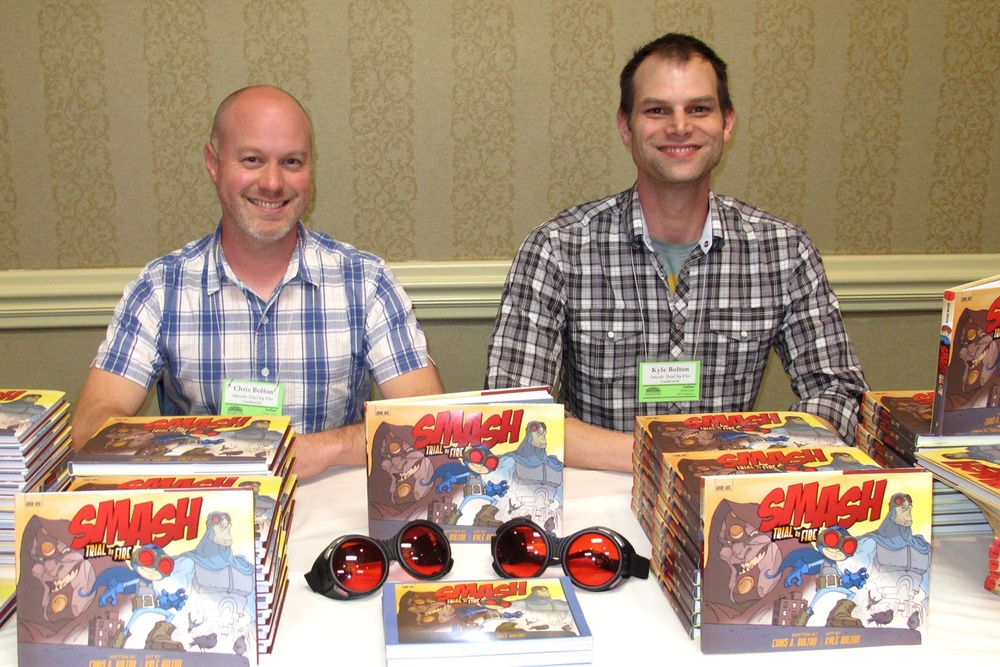 Chris A. Bolton (left) and Kyle Bolton, creators of SMASH.
