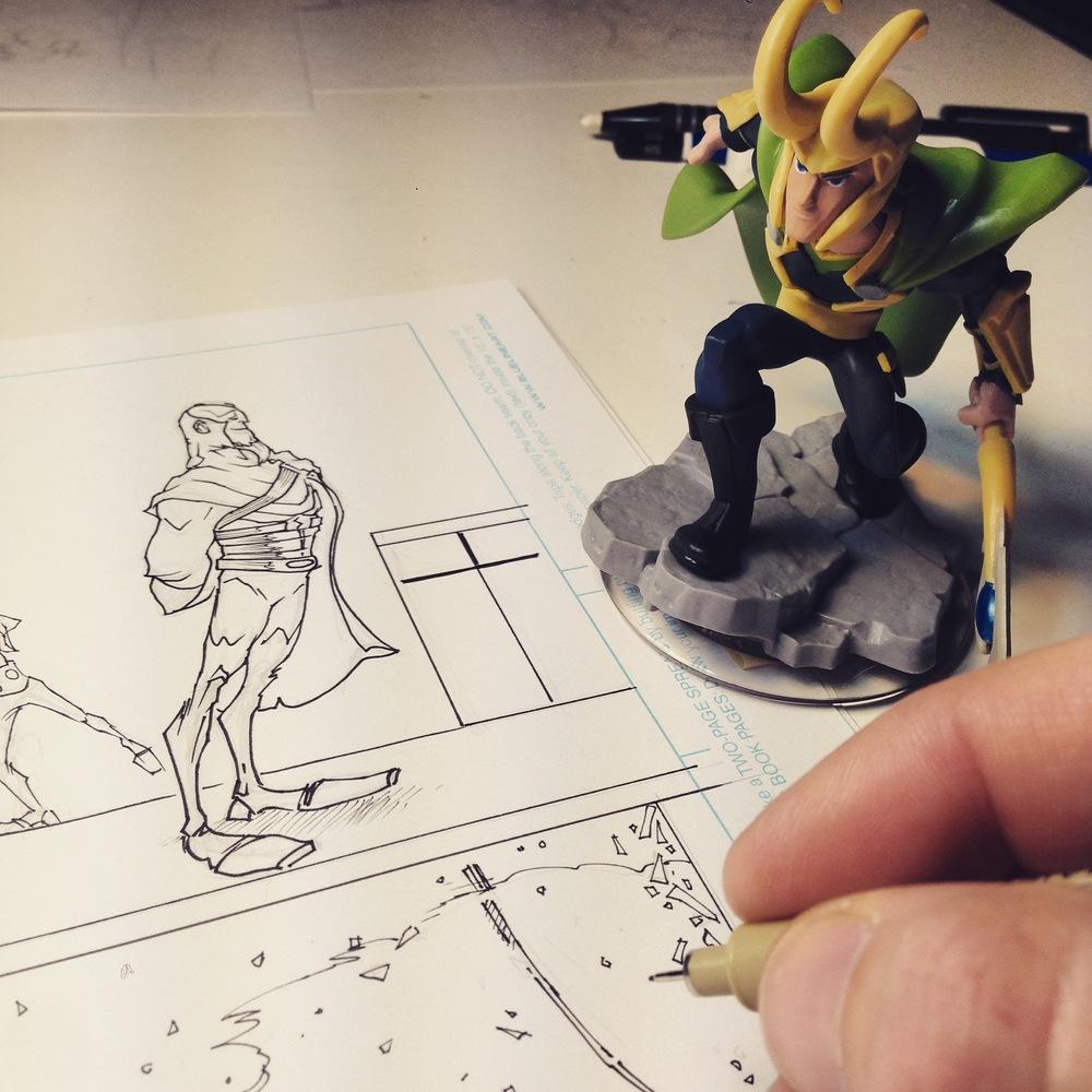 Loki looks on!