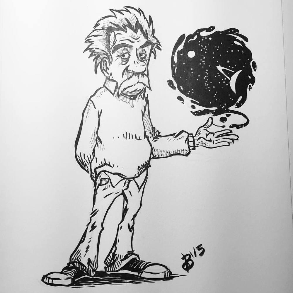 Albert Einstein! (A request for a Patreon supporter.)