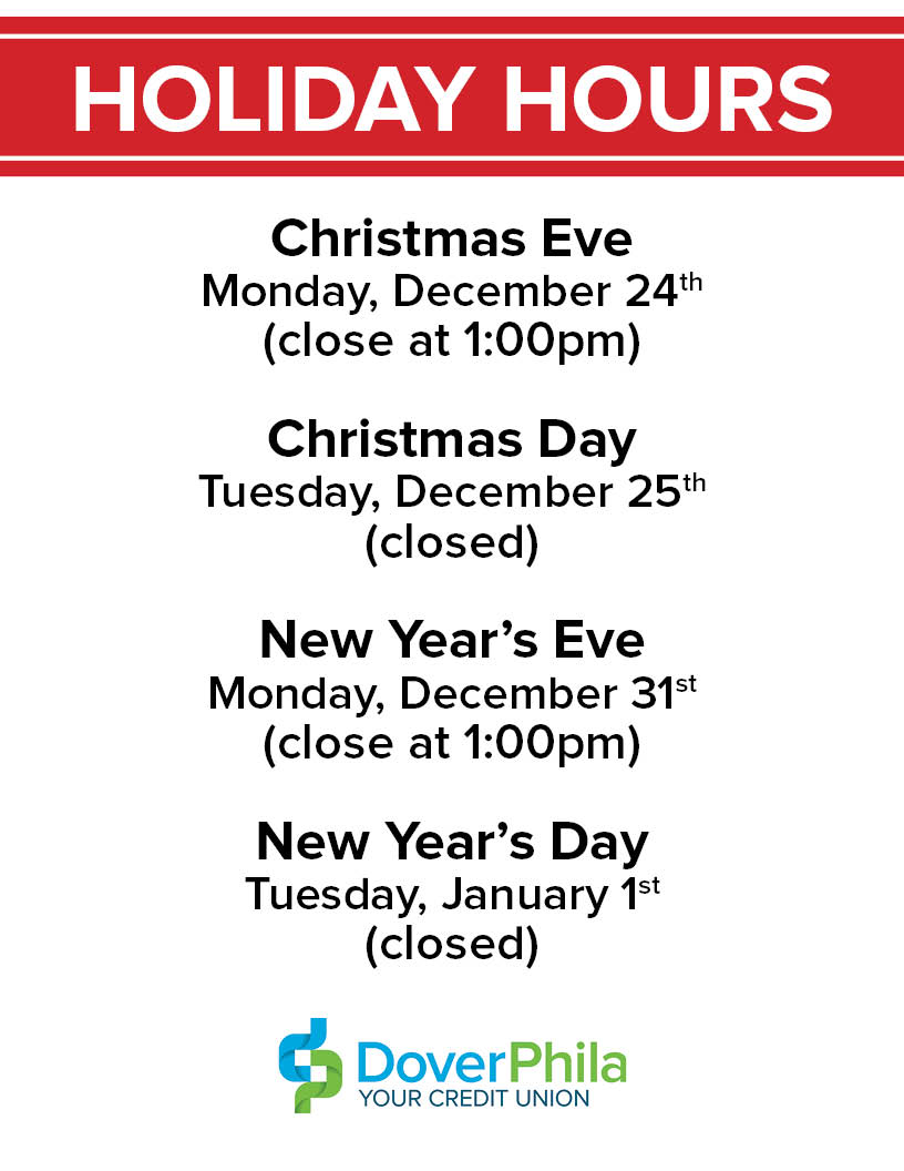 Holiday Hours: Christmas Eve, Christmas Day, New Year\'s Eve, & New ...