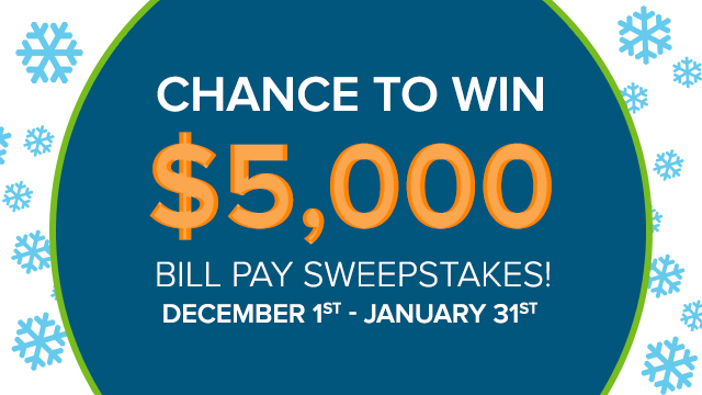 Image: Bill Pay Sweepstakes