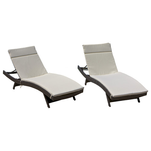 A pair of the ones I purchased were only $536.99 ! For the Pair!!!! You Can bot beat the price!     Home Loft Concept Domini Wicker Adjustable Chaise Lounge with Cushion (Set of 2) - Purchase Here