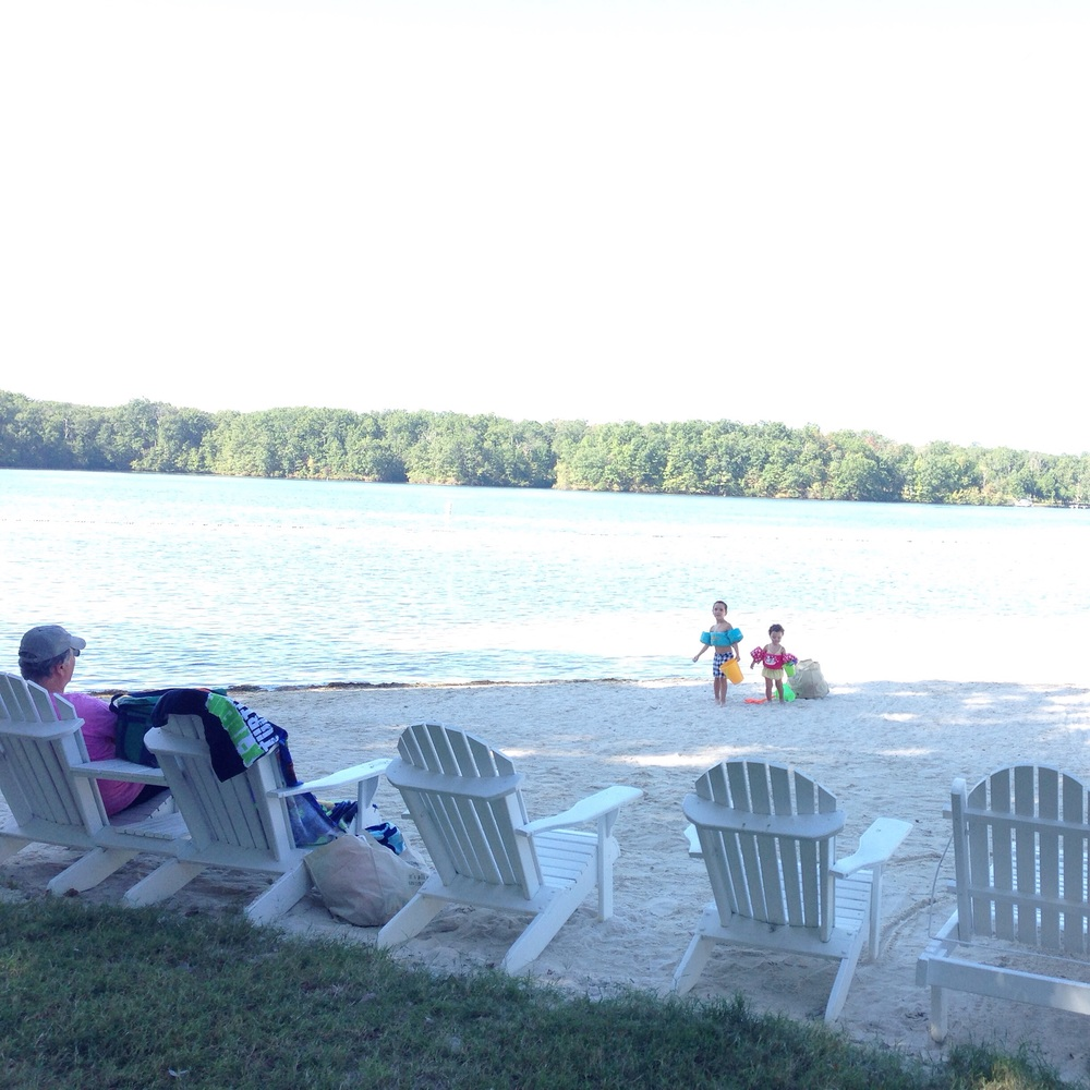 My father (the kids G-pa) is visiting for Labor Day and we are having the most relaxing Labor Day at the lake beach down the road from our home. We are soaking in the last few days of summer as much as we can ! Wishing everyone a wonderful holiday!
