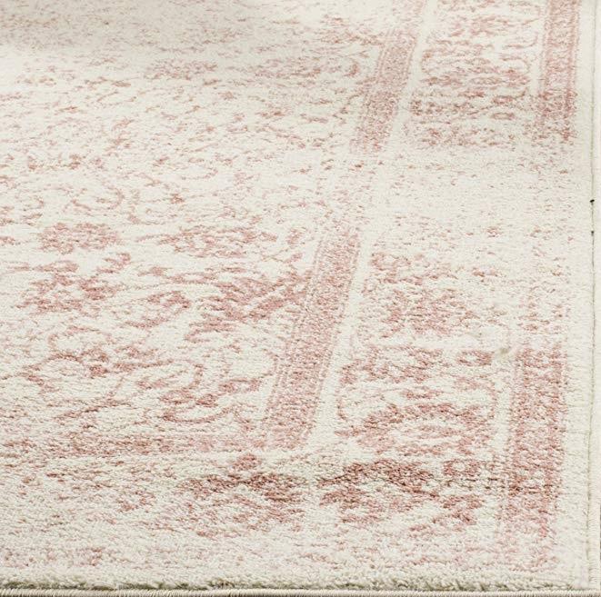 Rose & Ivory Distressed Vintage rug