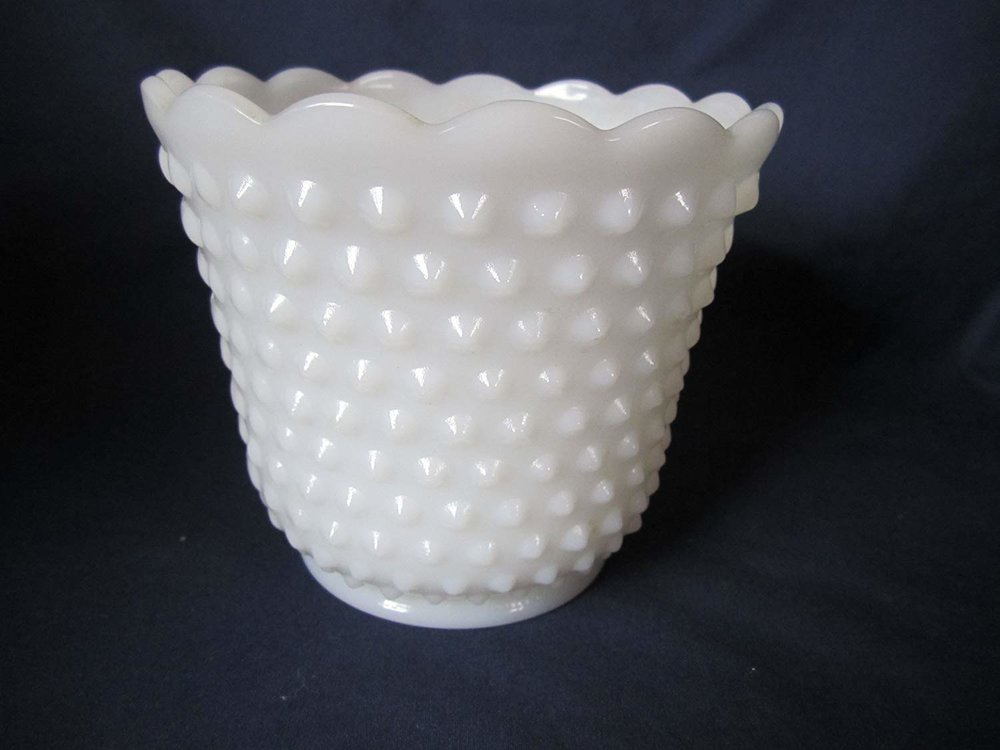 Vintage small milk glass vase