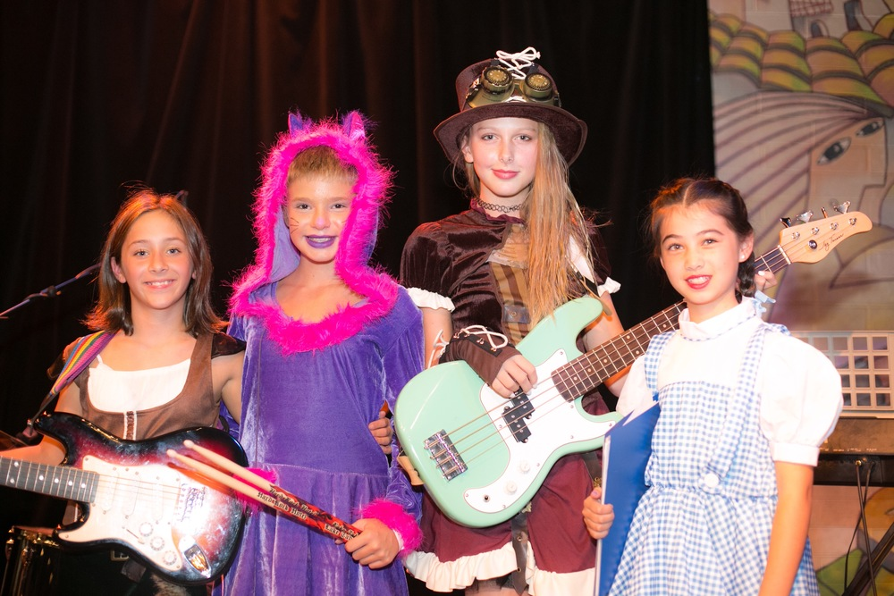 Neon Roses Band Photo 10.24.15 (from left to Right) Cori, Marisa, Emma & Isabel