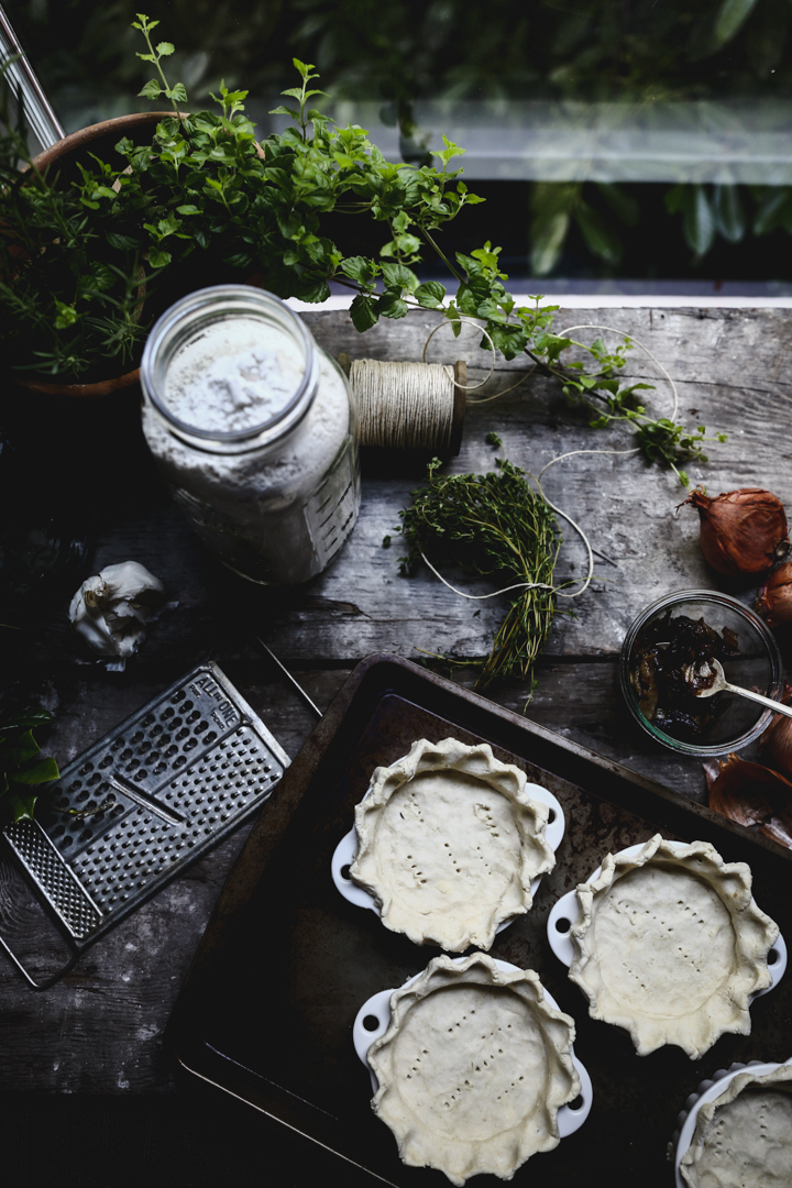 Caramelized Shallot, Thyme, Feta & Spinach Tart | Photography & Styling by Christiann Koepke of Portlandfreshphoto.com-4.jpg