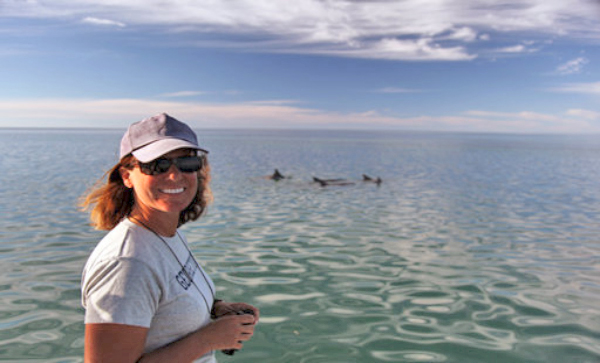 Janet Mann  Psychologist and marine biologist Janet Mann has studied bottlenose dolphins in Shark Bay, Australia, for more than 30 years. She's now conducting the first-ever study of dolphins in the Potomac River and Chesapeake Bay.  Read more .