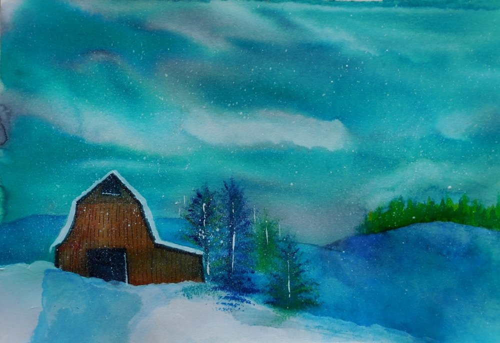Snowy Barn Blues