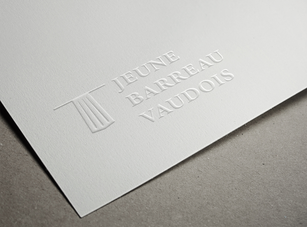 "New identity for Logo ""Le Jeune Barreau Vaudois"". © fannyducommun"