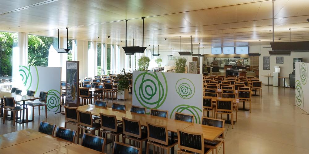 Visuels pour la nouvelles cafeteria du CAB (Centre Administratif Bancaire) à Prilly © fannyducommun