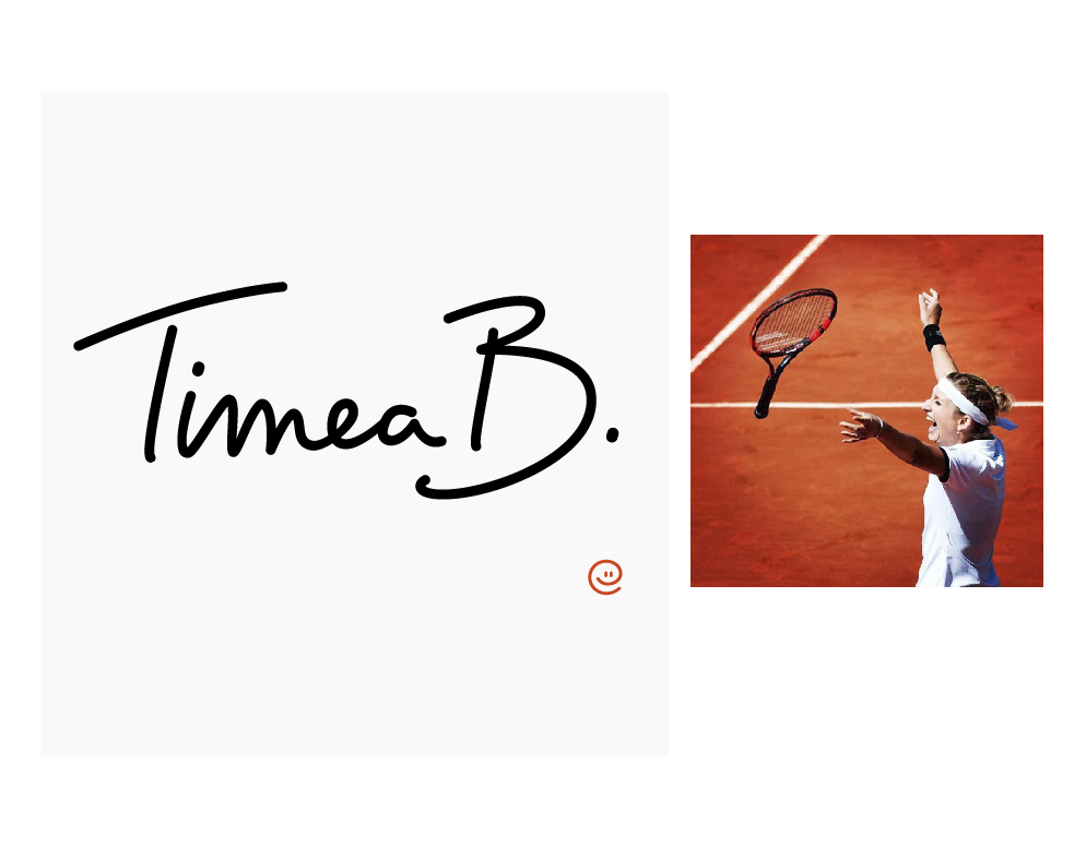 Logo design for Timea Bacsinszky. Website www.timea-b.com by tbnt.digital © timeabacsinszky