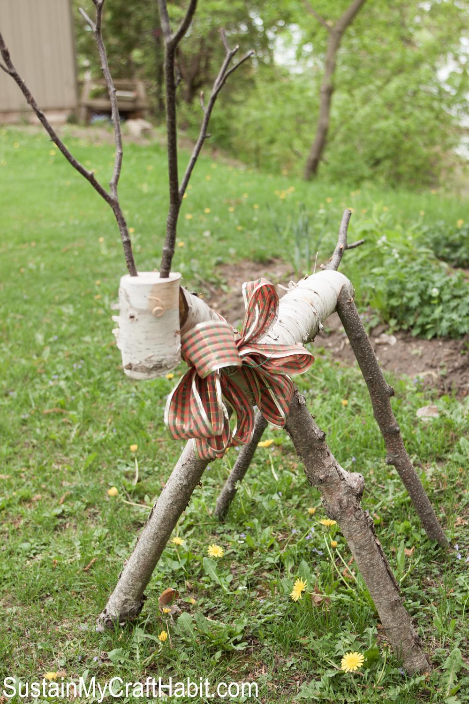 Birch branch reindeer